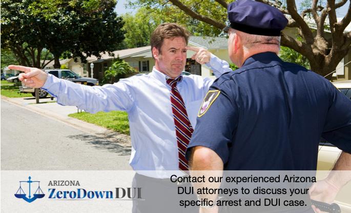 Arizona DUI field sobriety test blog